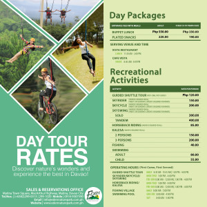 Eden Nature Park Davao Day Tour Rates 2015 Rides Walk In