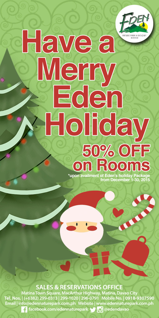 Have a Merry Eden Holiday! Christmas Package 2015 | Eden Nature Park ...